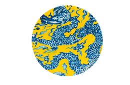 GAN — Chain Stitch Blue China Yellow