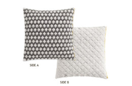 GAN Silai Cushion Dark Grey-White