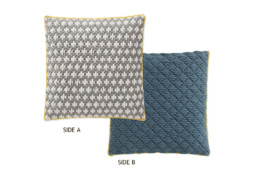 GAN Silai Cushion Light Grey-Blue