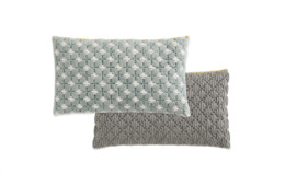 GAN Silai Cushion Celadon Light-Grey