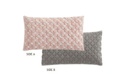 GAN Silai Cushion Rose Light-Grey