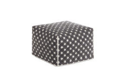 GAN Silai Small Pouf Dark Grey