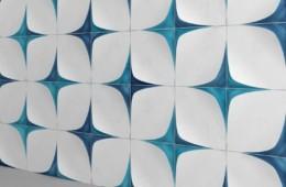 WOW — Blanc Et Bleu Leaf Wall Decor