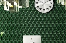 Etruria — Concetto Spaziale Esagono Emerald Green