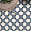 CE.SI. — Art Deco Ottagono Fluoro, Zaffiro, Carbonio